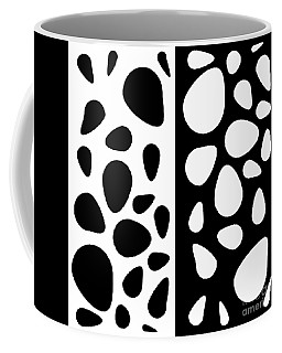 Black And White Teardrops Coffee Mug