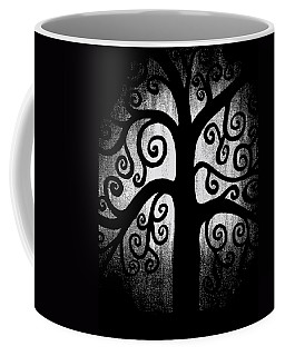 Black And White Tree Coffee Mug