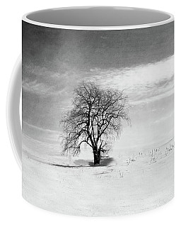 Black And White Tree In Winter Coffee Mug