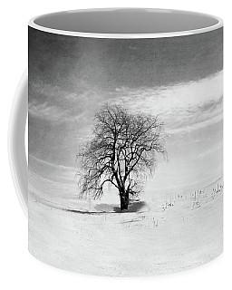 Black And White Tree In Winter Coffee Mug by Brooke T Ryan