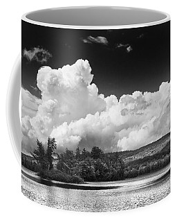Black And White Vienna Maine Flying Pond With Storm Clouds Fine Art Print Coffee Mug by Keith Webber Jr