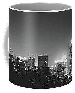 Coffee Mug featuring the photograph Black And White View Of Austin Skyline by PorqueNo Studios