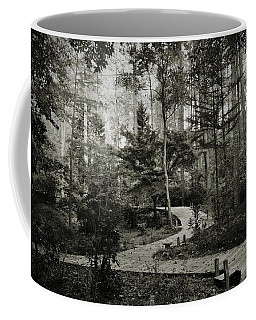 Black And White Vintage Edit -walk In Peace  Coffee Mug