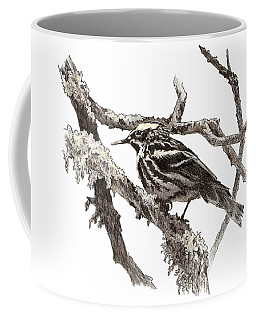 Black-and-white Warbler Coffee Mug