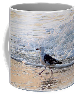 Coffee Mug featuring the photograph Black-backed Gull by  Newwwman