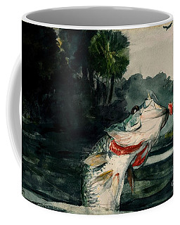 Coffee Mug featuring the painting Black Bass by Pg Reproductions
