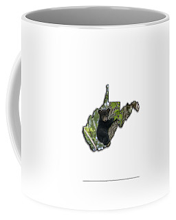 Black Bear Cub Climbing Down A Tree Coffee Mug