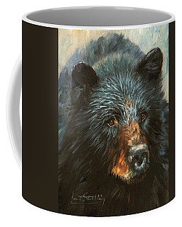Coffee Mug featuring the painting Black Bear by David Stribbling