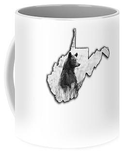 Black Bear Standing Coffee Mug
