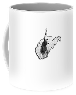 Black Bear Standing Coffee Mug