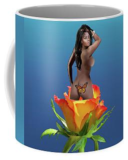 Black Beauty Rose Coffee Mug