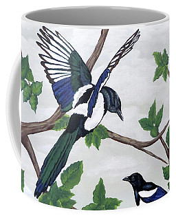 Black Billed Magpies Coffee Mug