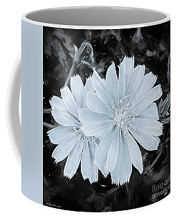 Blue Daisy Twins Bw Coffee Mug