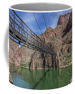 Black Bridge Over The Colorado River At Bottom Of Grand Canyon Coffee Mug