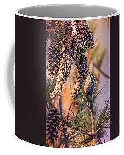 Coffee Mug featuring the photograph Black-capped Chickadee by Peter Lakomy