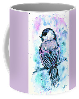 Black-capped Chickadee Coffee Mug by Zaira Dzhaubaeva