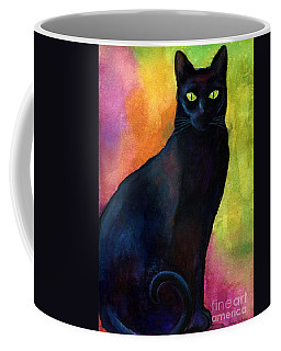 Black Cat 9 Watercolor Painting Coffee Mug by Svetlana Novikova