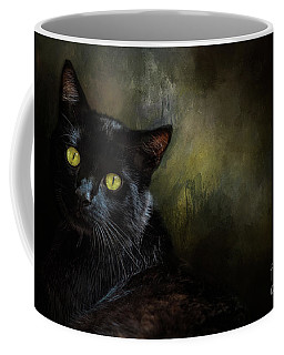 Black Cat Portrait Coffee Mug