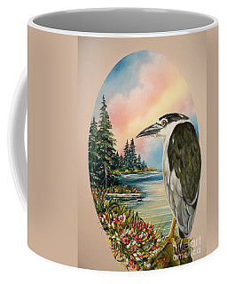 Flying Lamb Productions                     Black Crowned Heron Coffee Mug
