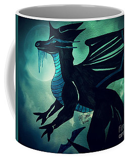Coffee Mug featuring the painting Black Dragon by Maria Urso