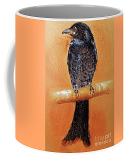 Coffee Mug featuring the painting Black Drongo  by Jasna Dragun