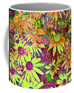 Black-eyed Susan   Abstract  Coffee Mug