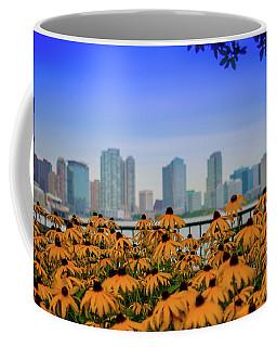Black Eyed Susans In Battery Park Coffee Mug