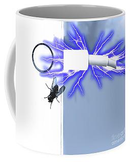 Black Fly On Tablet Coffee Mug