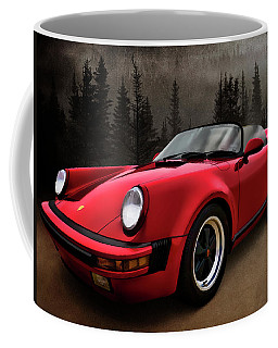 Black Forest - Red Speedster Coffee Mug by Douglas Pittman