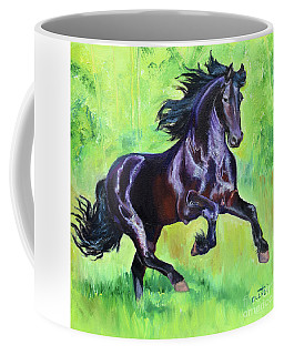 Black Friesian Horse Coffee Mug