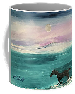 Black Horse Follows The Moon Coffee Mug