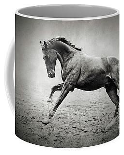 Black Horse In Dust Coffee Mug
