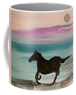 Black Horse With Moon Coffee Mug