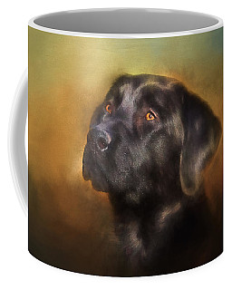 Black Lab Portrait 2 Coffee Mug