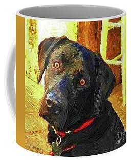 Black Lab Wants To Go For A Walk Coffee Mug