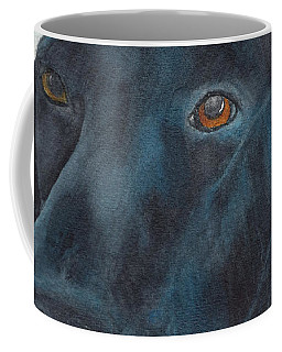 Black Labrador With Copper Eyes Portrait II Coffee Mug