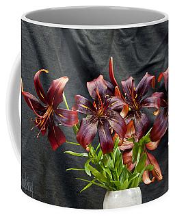 Black Lilies Coffee Mug