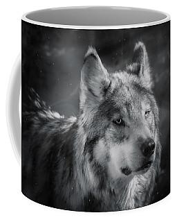 Black N White Wolf Coffee Mug