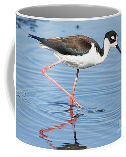 Black-necked Stilt Wading  Coffee Mug