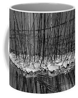 Black Needlerush Monochrome Coffee Mug