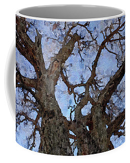 Coffee Mug featuring the painting Black Oaks by Mark Greenberg