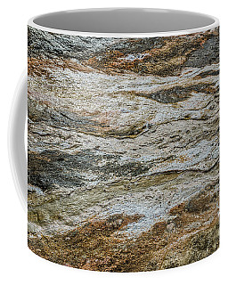 Black Obsidian Sand And Other Textures Coffee Mug by Sue Smith