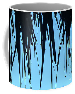 Black Palms On Blue Sky Coffee Mug