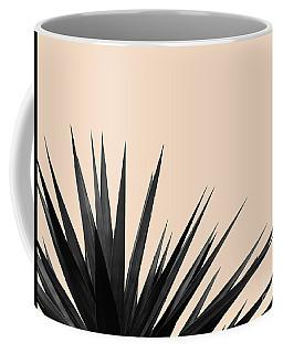 Black Palms On Pale Pink Coffee Mug