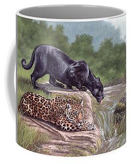 Black Panther And Jaguar Coffee Mug