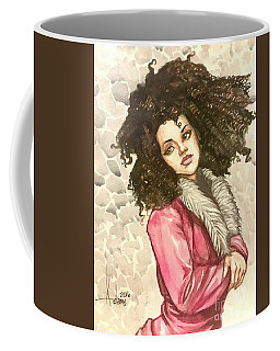 Black Pinup Coffee Mug by Jimmy Adams