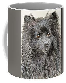 Black Pomeranian Painting Coffee Mug