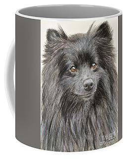 Black Pomeranian Painting Coffee Mug