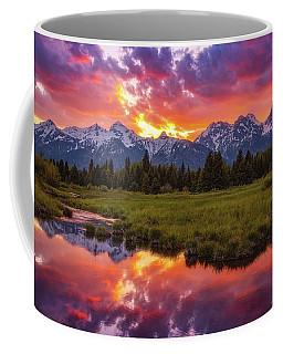 Black Ponds Sunset Coffee Mug by Darren White
