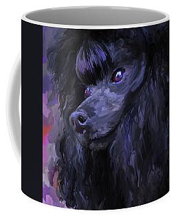 Black Poodle - Square Coffee Mug